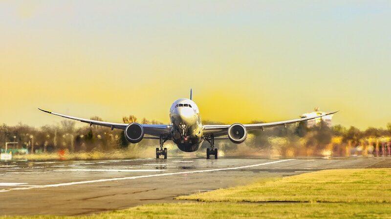 Flugzeug, Virgin Airlines, Landebahn, Startbahn, reisen, fliegen