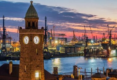 Hamburg, Hamburger Hafen, Hafencity, Obdachlose