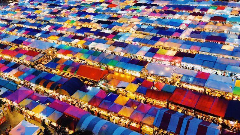 Bangkok, Soi, Straße, Bunt