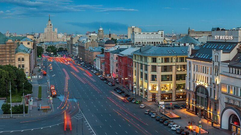 Moskau, Straße, Russland