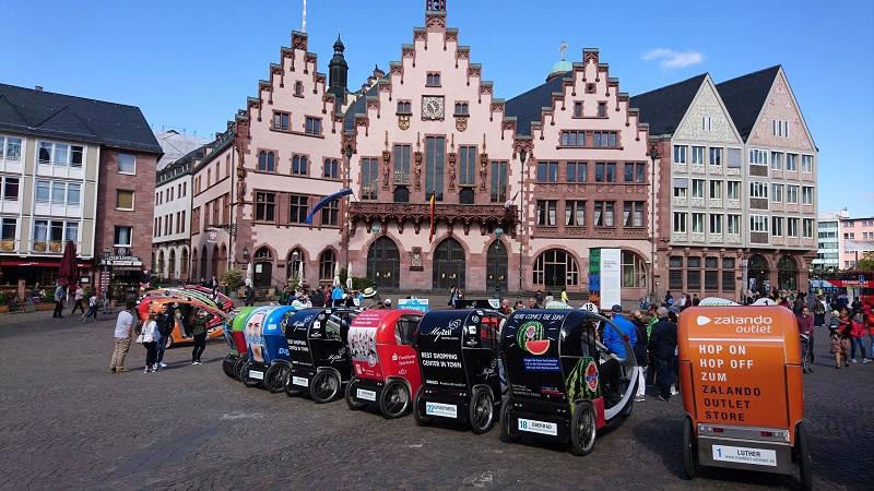 Velotaxi Frankfurt, Werbung, Marketing