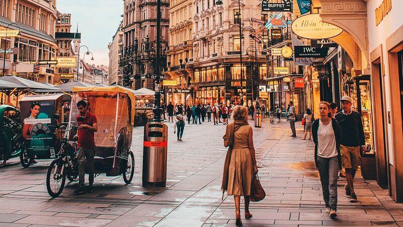 Wien, Straße, Zentrum, Innenstadt, Fußgänger, Verkehr