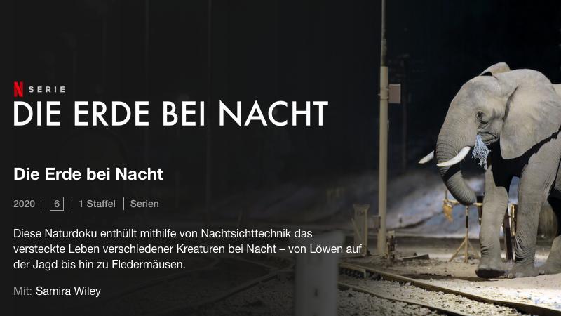 Netflix, Die Erde bei Nacht