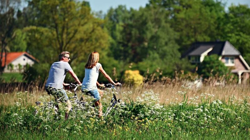 Fahrrad fahren, Natur, Pärchen, Paar, Sport