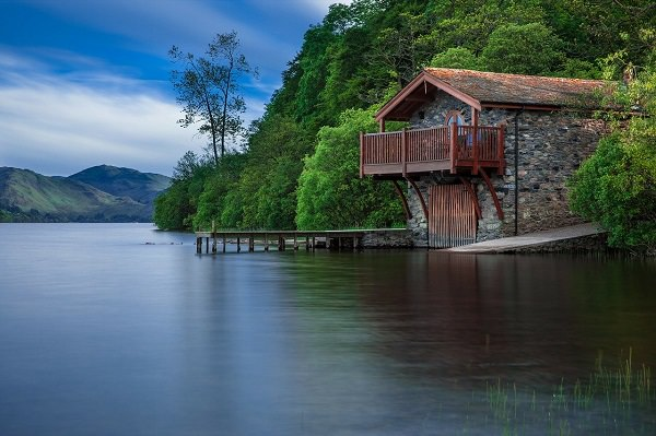 Haus, See, Haus am See, Bootshaus