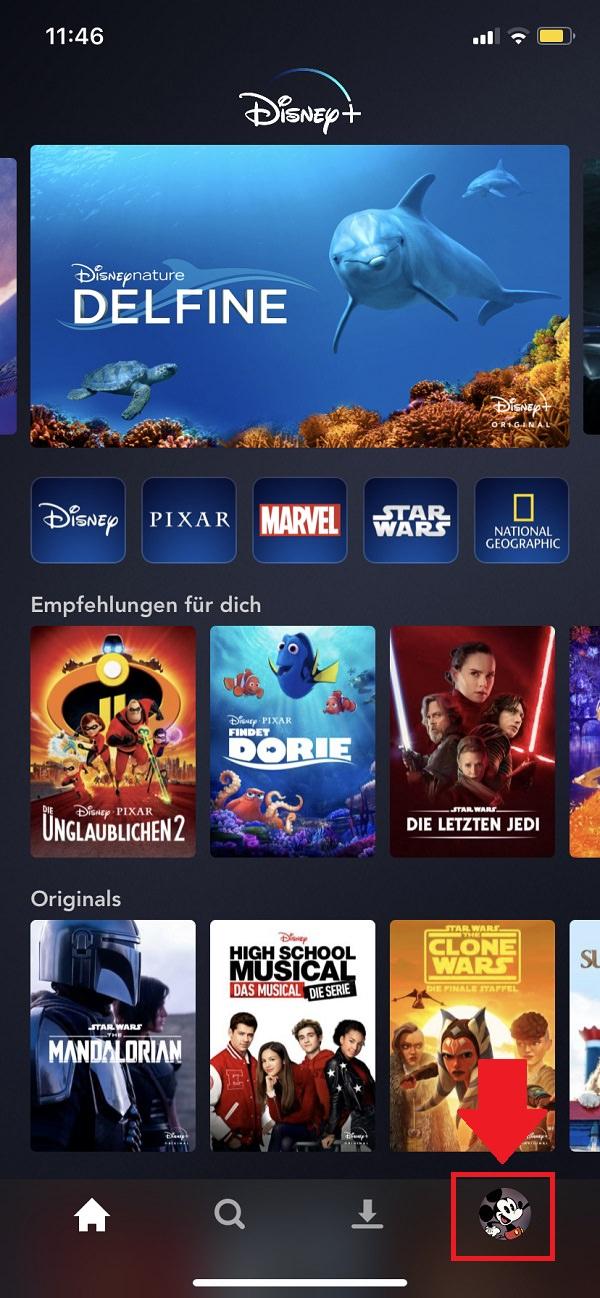 Disney Plus, Disney Plus Streaming, Disney-Plus-Streaming Datenvebrauch, Disney-Plus-Streaming Datenvolumen schonen