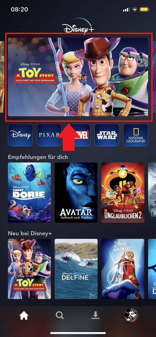 Disney Plus Filme herunterladen, Disney Plus Serien herunterladen, Disney Plus, Downloads, Disney-Plus-Downloads verwalten, Disney Plus Downloads löschen