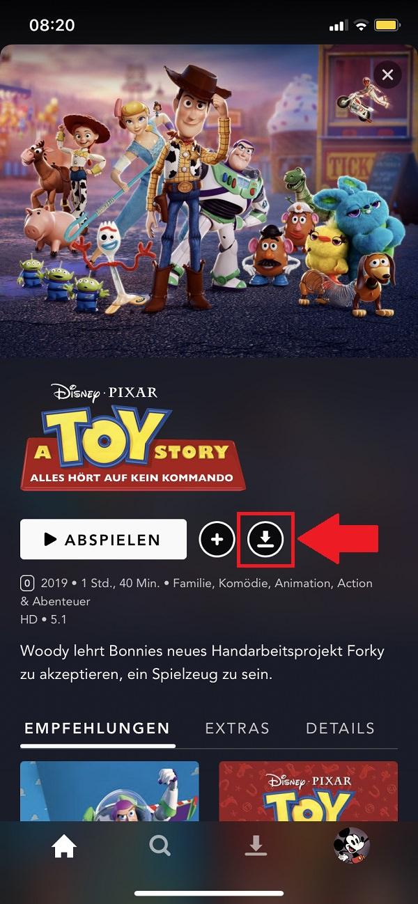Disney-Plus-Downloads: So lädst du dir Filme und Serien ...