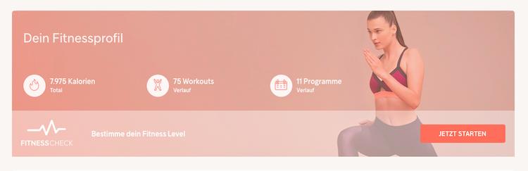 Fitnessprofil Gymondo