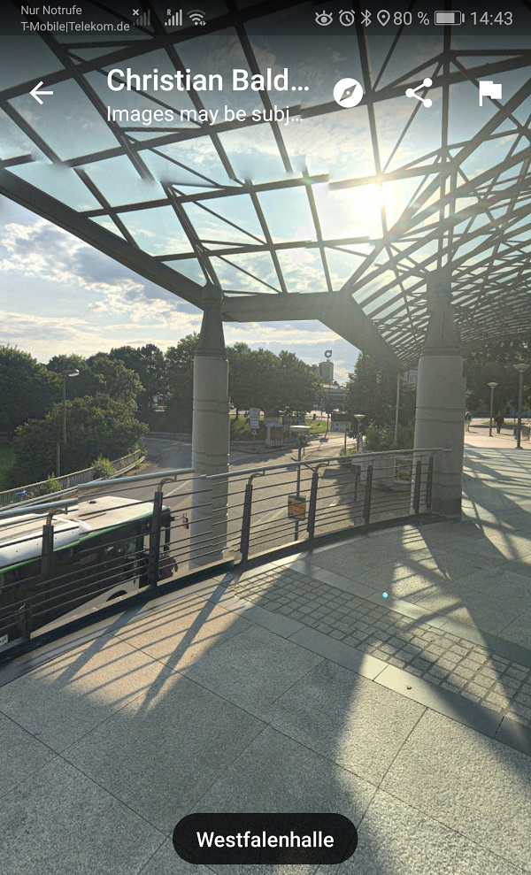 Westfalenhalle Dortmund, Google Maps