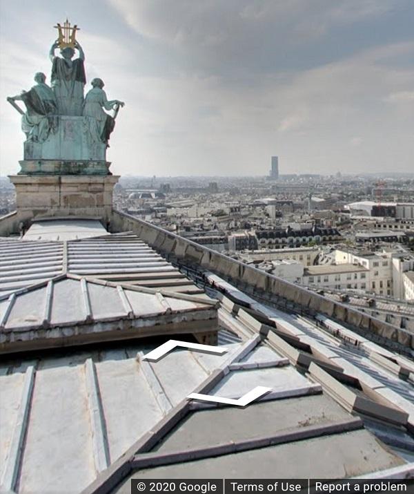 Google Arts and Culture, Paris, Pariser Oper, Dach