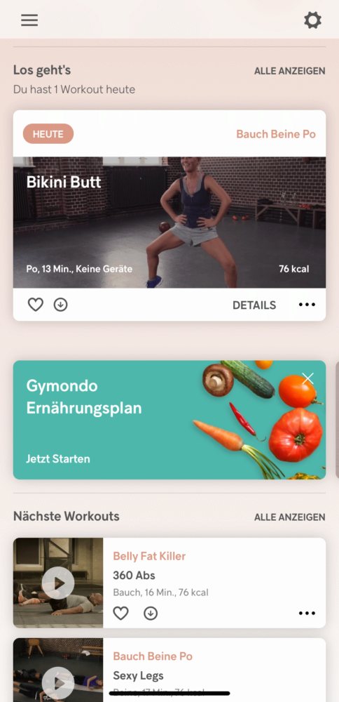 Gymondo App Workouts