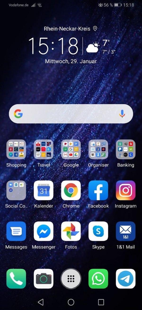 Claudio Catrini Akademie, Kommunikationstrainer, Smartphone, Android-Smartphone, Homescreen, Apps