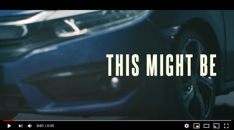 Honda Civic Werbung, Stayhome, YouTube