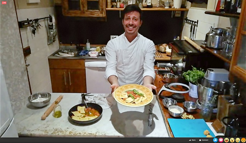 Getyourguide, kochen, Pizza, Facebook live