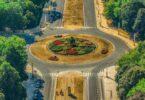 Kreisverkehr, Straße, Verkehr, Autos