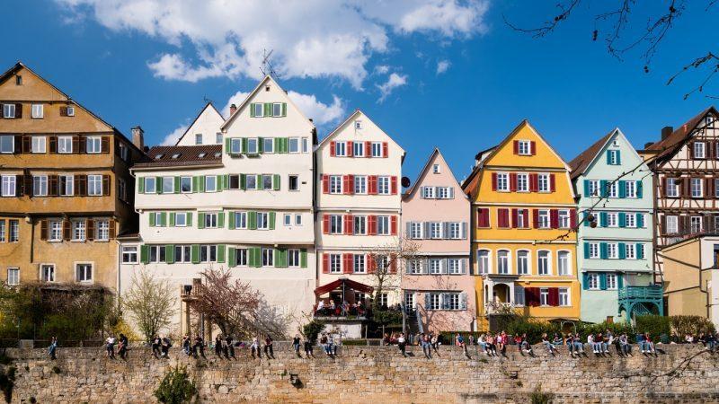 Tübingen, Stadt, Häuser, bunt