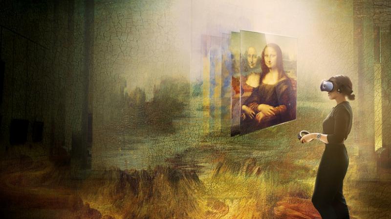Mona Lisa, VR, Lourvre, HTC VIVE Arts