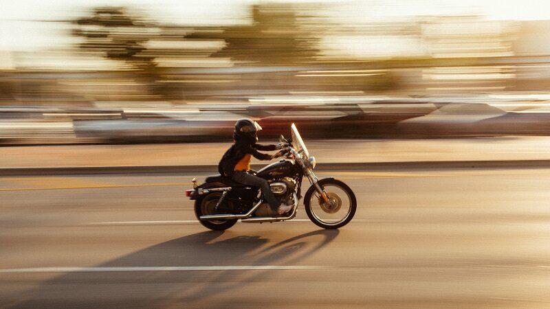 Motorradfahrer, Motorrad, rasen, Geschwindigkeit, schnell