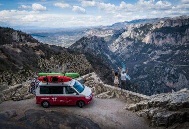Camper, Campervan, Roadsurfer, Reisen, Berge, Landschaft