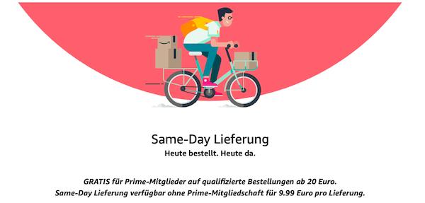Same-Day Lieferung Amazon