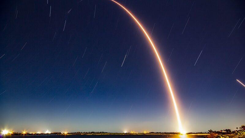 Starlink Satelliten, SpaceX, Raumfahrt, Weltraum, Internet