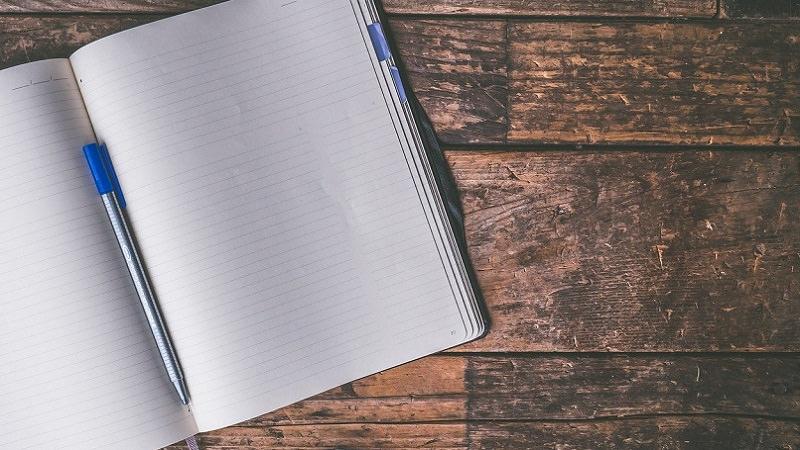 Tagebuch, Notizbuch, leere Seite, White Strategy
