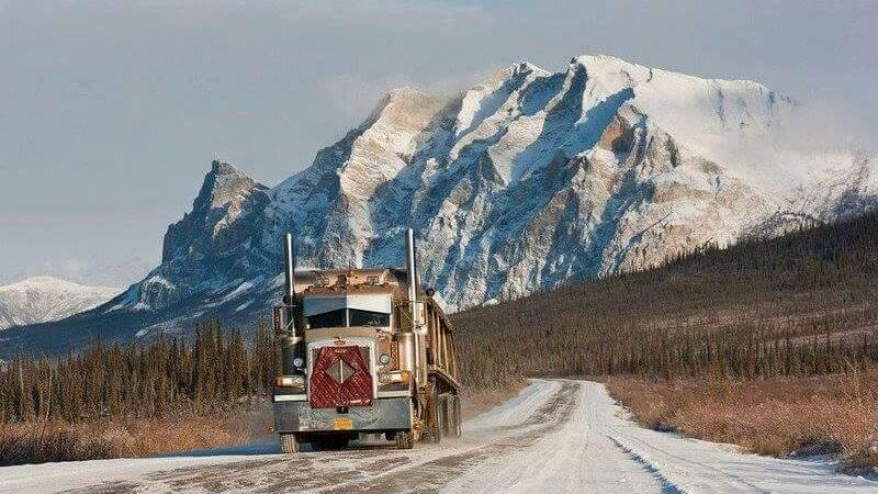 Dalton Highway, USA, Straße, Eis, Truck