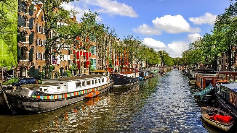 Amsterdam, Kanal, Wasserstraße, Boote