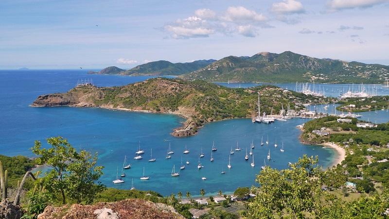 Antigua, Karibik, Insel, Sonne, Strand, Meer, Segelboote