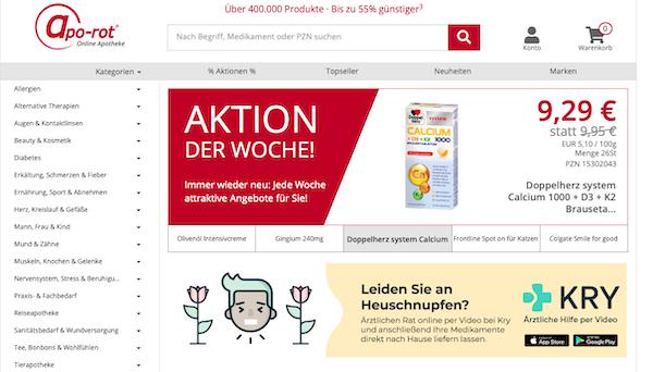 Apo-Rot Startseite Online-Apotheke