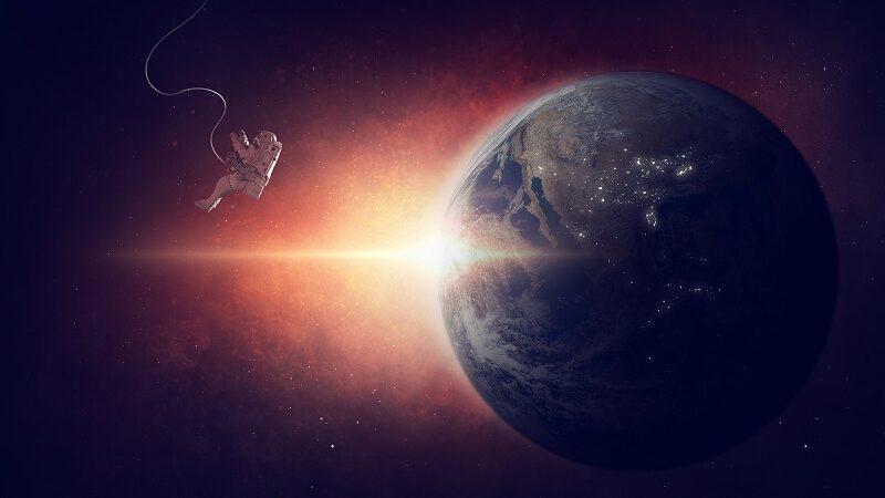 Astronaut, Weltraum, Erde, Schwerelosigkeit