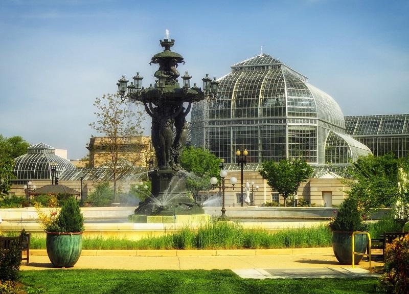 Bartholdi Brunnen Washington D.C., USA, Wahrzeichen, Springbrunnen