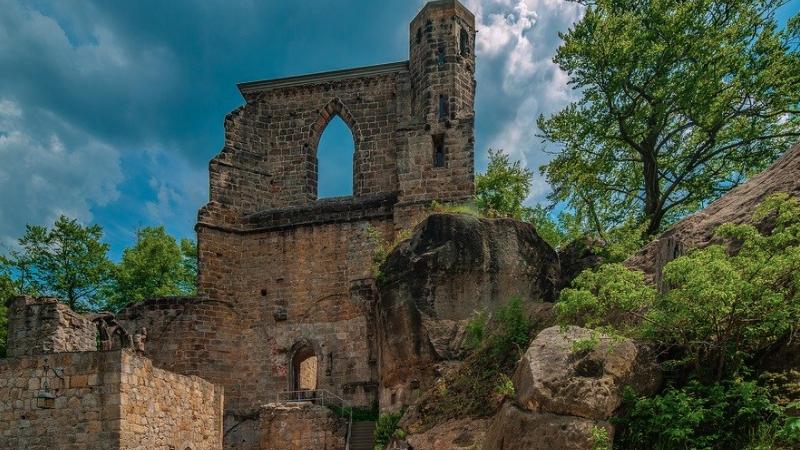 Erzgebirge, Oydin, Burg