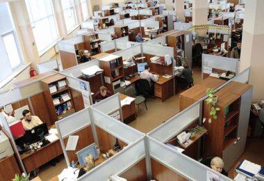 Büro, Großraumbüro, Angestellte, Mitarbeiter, Firma, Arbeit, Unternehmen