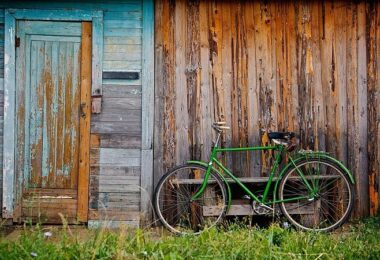 Fahrrad, Schuppen, alt