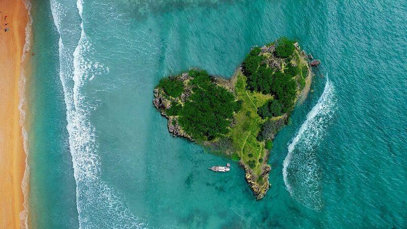 Insel, Karibik, Ozean, Strand