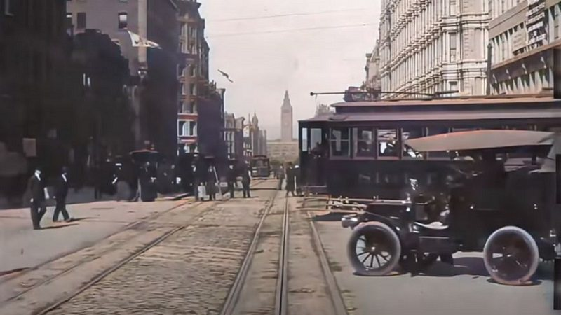 San Francisco, Kalifornien, Cable Car, Zeitreise, Upscaling, YouTuber