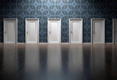 Türen, Flur, Gang, Entscheidung, Chance verpasst