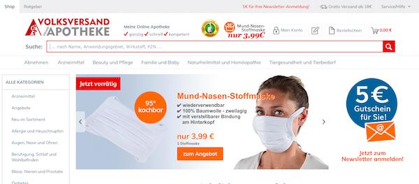 Volksversand Startseite Online-Apotheke