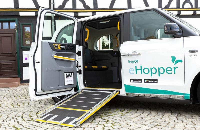 Hopper, Taxi, Sammeltaxi, Offenbach, Rollstuhl, barrierefrei