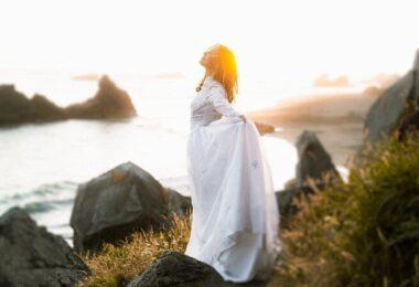 Frau, Meer, atmen, Ozean, Natur