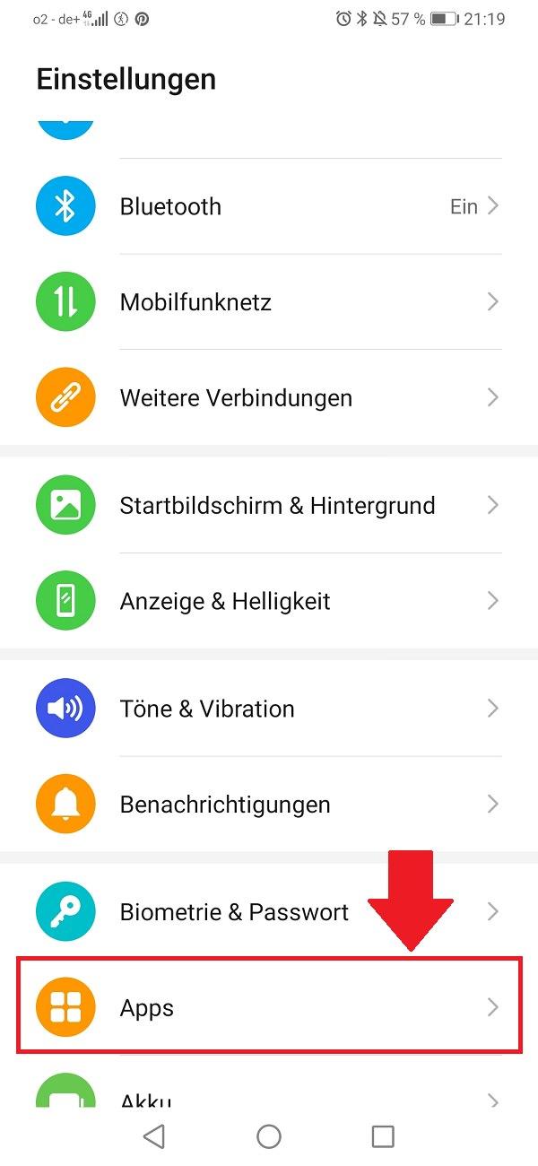 Hintergrund-Apps beenden, Hintergrund-Apps deaktivieren, Hintergrund-Aktivitäten beenden, Huawei P30 Lite, Android