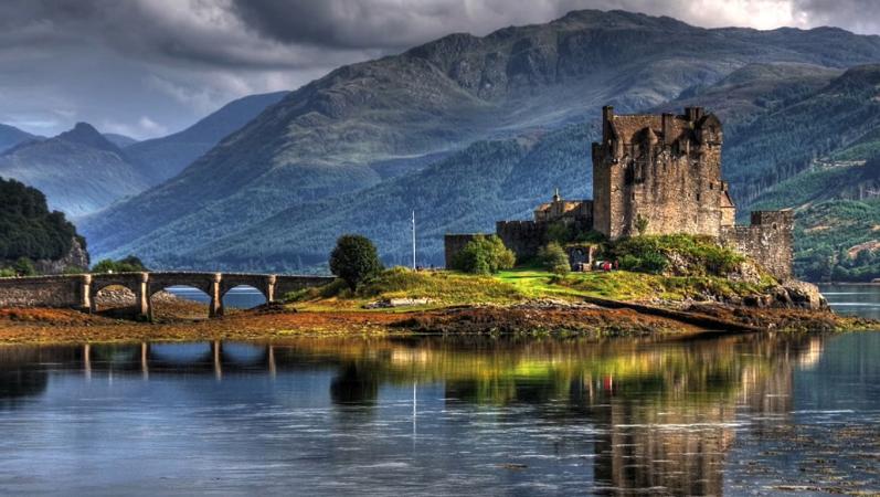 Schottland, Schloss, Natur, Landschaft, Highlands, Outlander