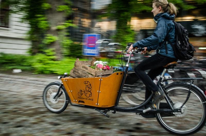 Lastenrad Oldenburg, Frau, Fahrrad, Rädchen für alles, einkaufen