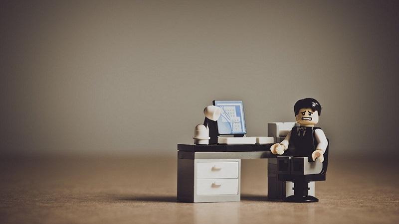 Lego, Lego-Figur, Arbeitgeber, Arbeitnehmer, Job, Arbeit, Arbeitsplatz, Absage