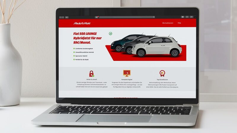 Fiat 500 Hybrid Lounge, Media Markt, Vehiculum, Auto, Leasing