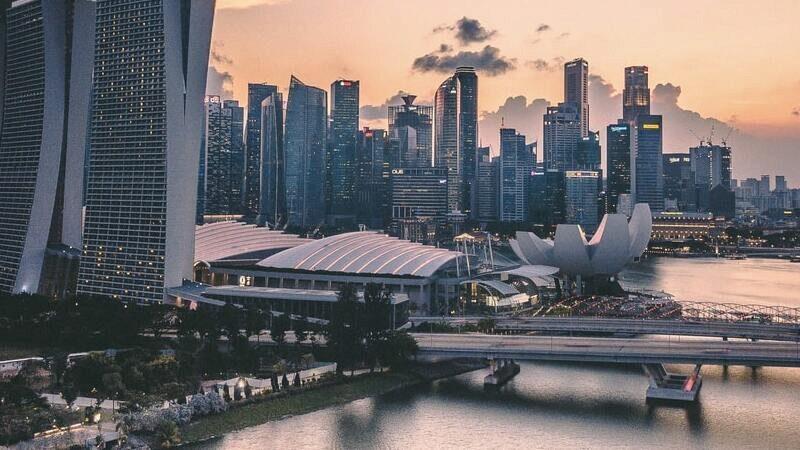 Singapur, Asien, Wolkenkratzer