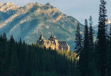 Hotel, Fairmont Banff Springs Hotel, Alberta, Schloss, Berge