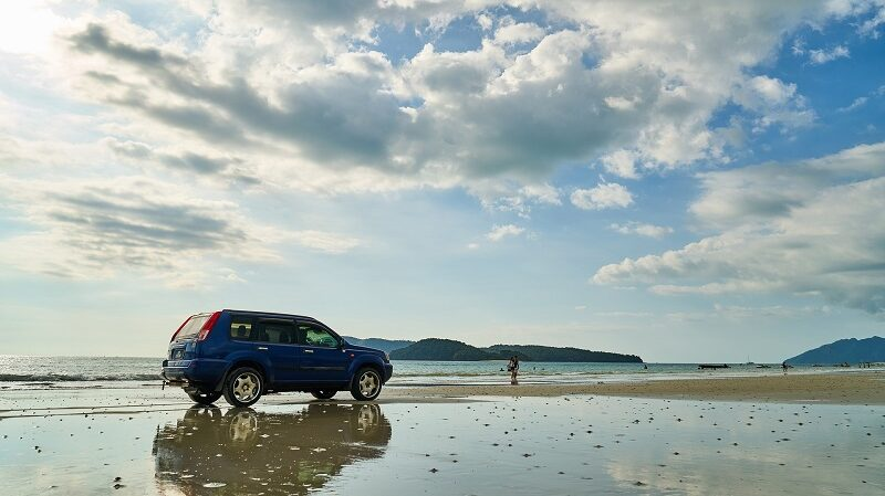Auto, Meer, Ozean, Ebbe, Flut, Wasser, Strand